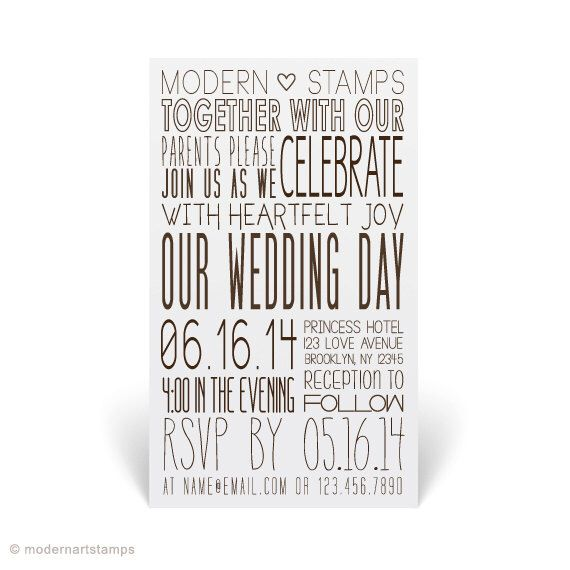 Wedding Invitation Stamp   Wedding Stamp   Custom Wedding Stamp   Custom Stamp   Personalized Stamp   Modern Wedding Invitation   W19 by modernartstamps on Etsy https://www.etsy.com/listing/193495362/wedding-invitation-stamp-wedding-stamp