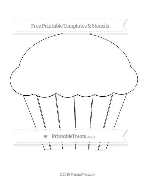 Free Printable Extra Large Cupcake Template Shapes and Templates - leaf template for writing