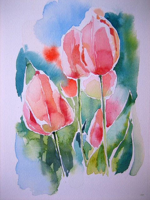 Img 5682 In 2020 Blumen Aquarell Aquarell Blumen Und Tulpenmalerei