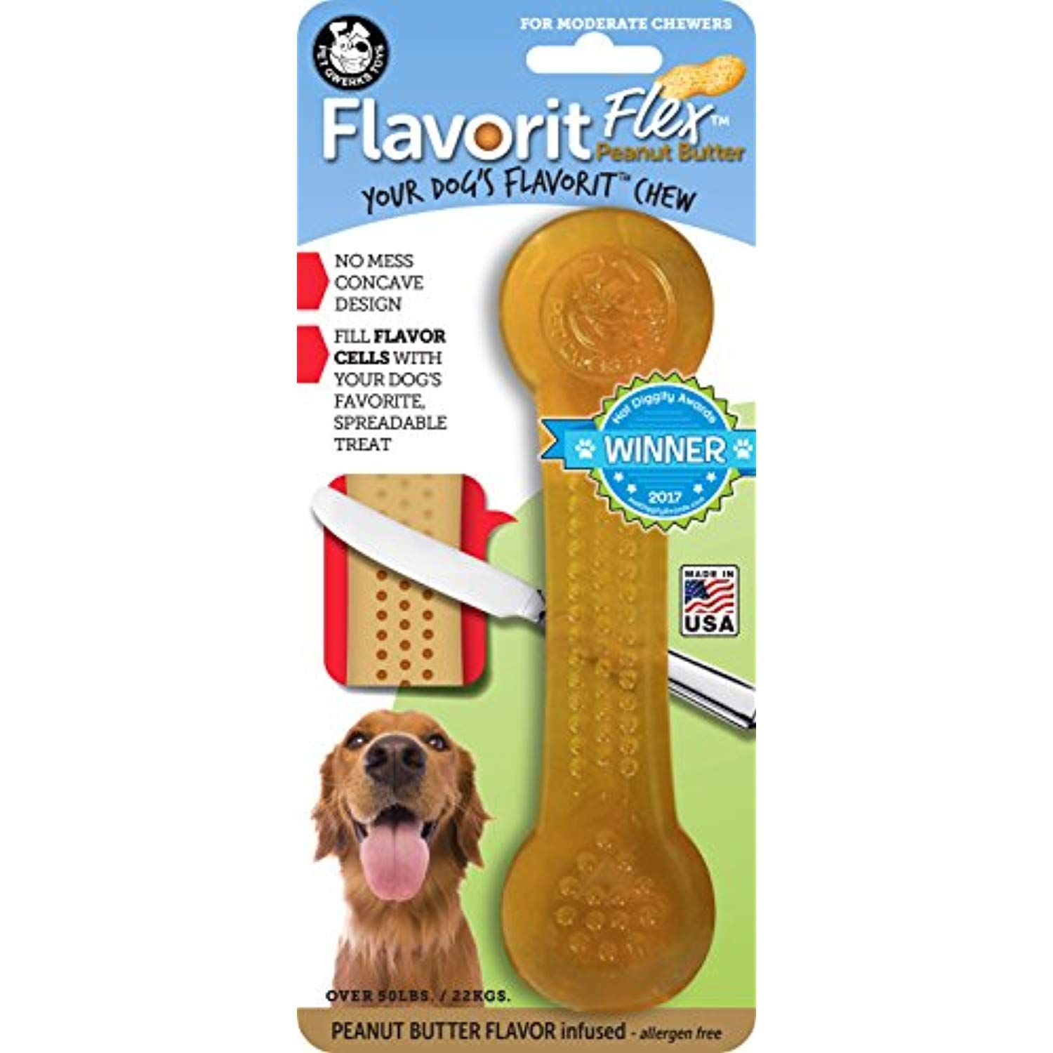 Pet Qwerks Flavorit Peanut Butter Flavored Flex Bone For Moderate