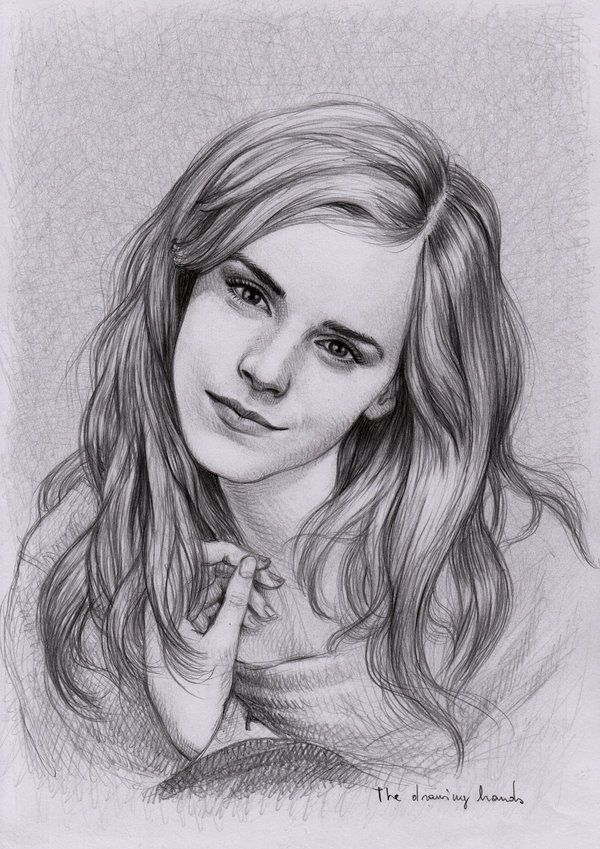 Emma watson by thedrawinghands on deviantart pencil portrait