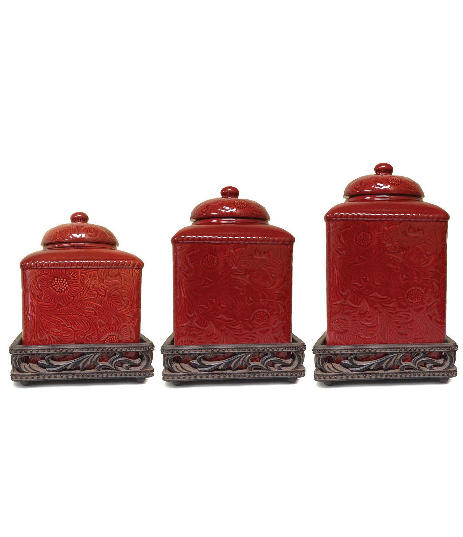 dillards kitchen canisters hiend accents savannah canister set dillard s in 2020 kitchen canister sets kitchen 5424