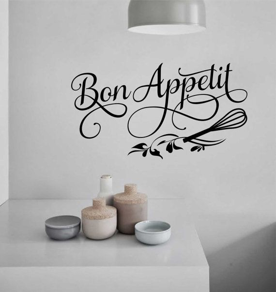 Kitchen Wall Decal Bon E