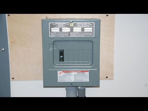 How To Install A Subpanel Youtube Installation Building A Cabin Electrical Panel