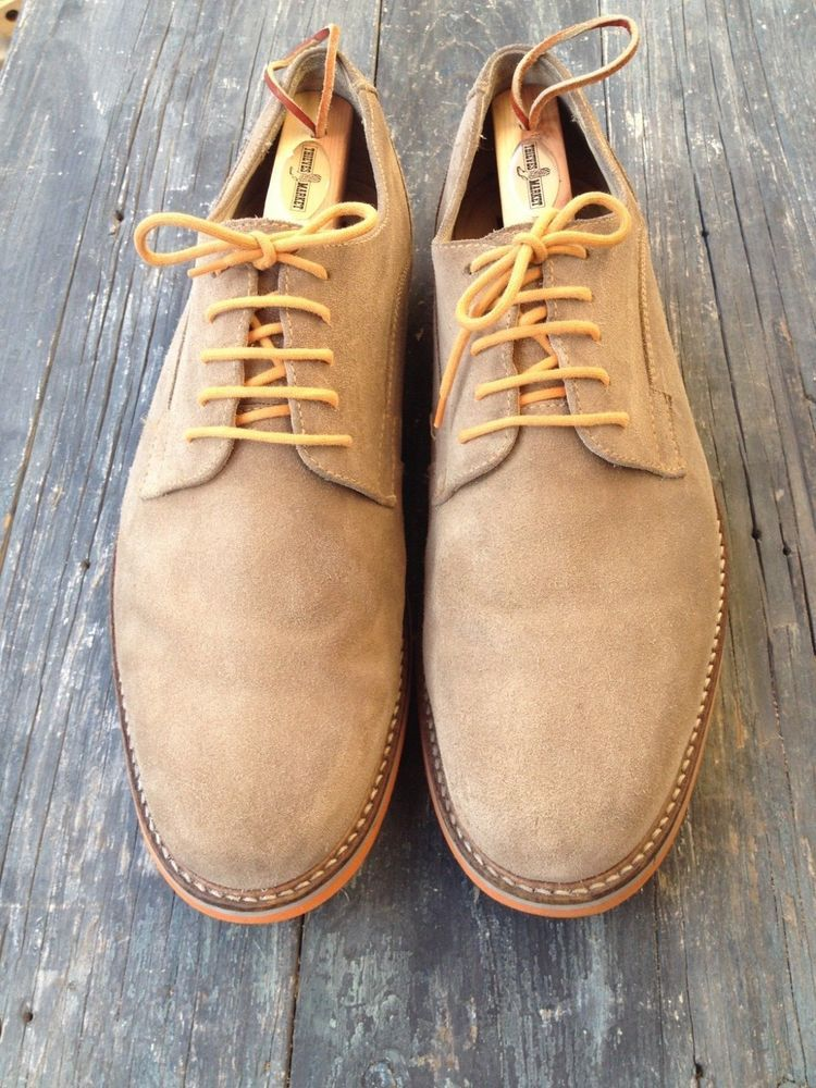 1901 Light Beige Suede Oxfords Comfortable Lace Up Casual Shoes Men S Size 10 5 1901 Oxfords Casual Suede Leather Shoes Beige Shoes Dress Shoes Men