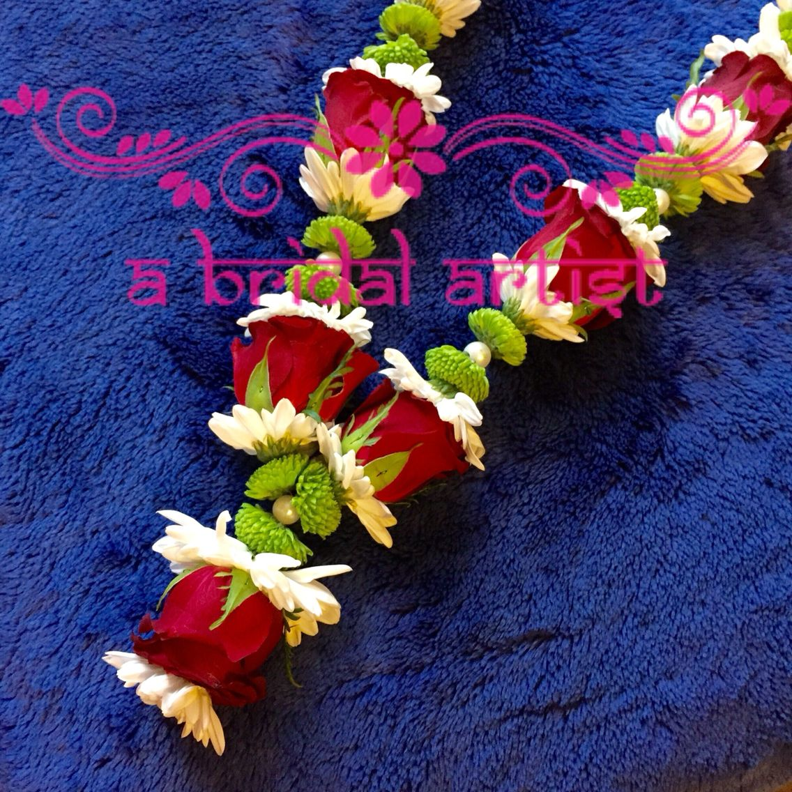 Exquisite designer wedding garland jaimala haar varmala made from fresh
