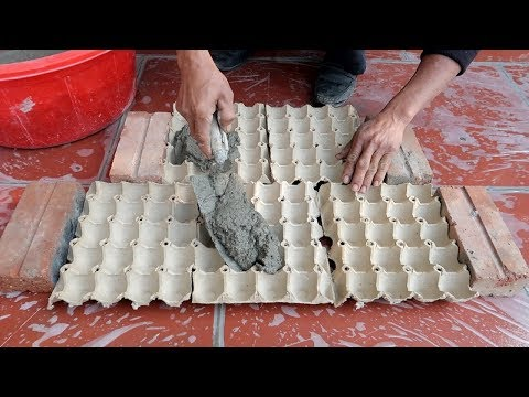 (3) Egg Tray And Cement How To Make Easy Flower Pots at