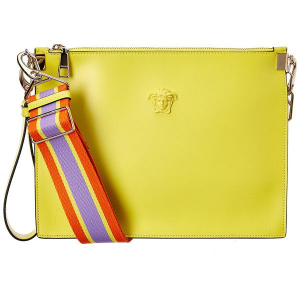2303d3a409 Versace Medusa Leather Pouch ( 800) ❤ liked on Polyvore featuring bags