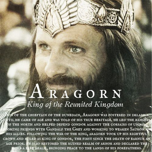 """Aragorn: """"I do not know what strength is in my blood, but I swear to you I will not let the White City fall, nor our people fail. """""""