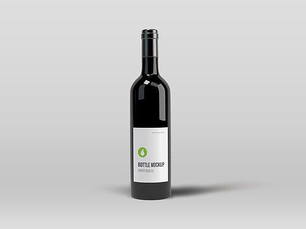 Free Black Wine Bottle Mockup Antaras Diary Mockups