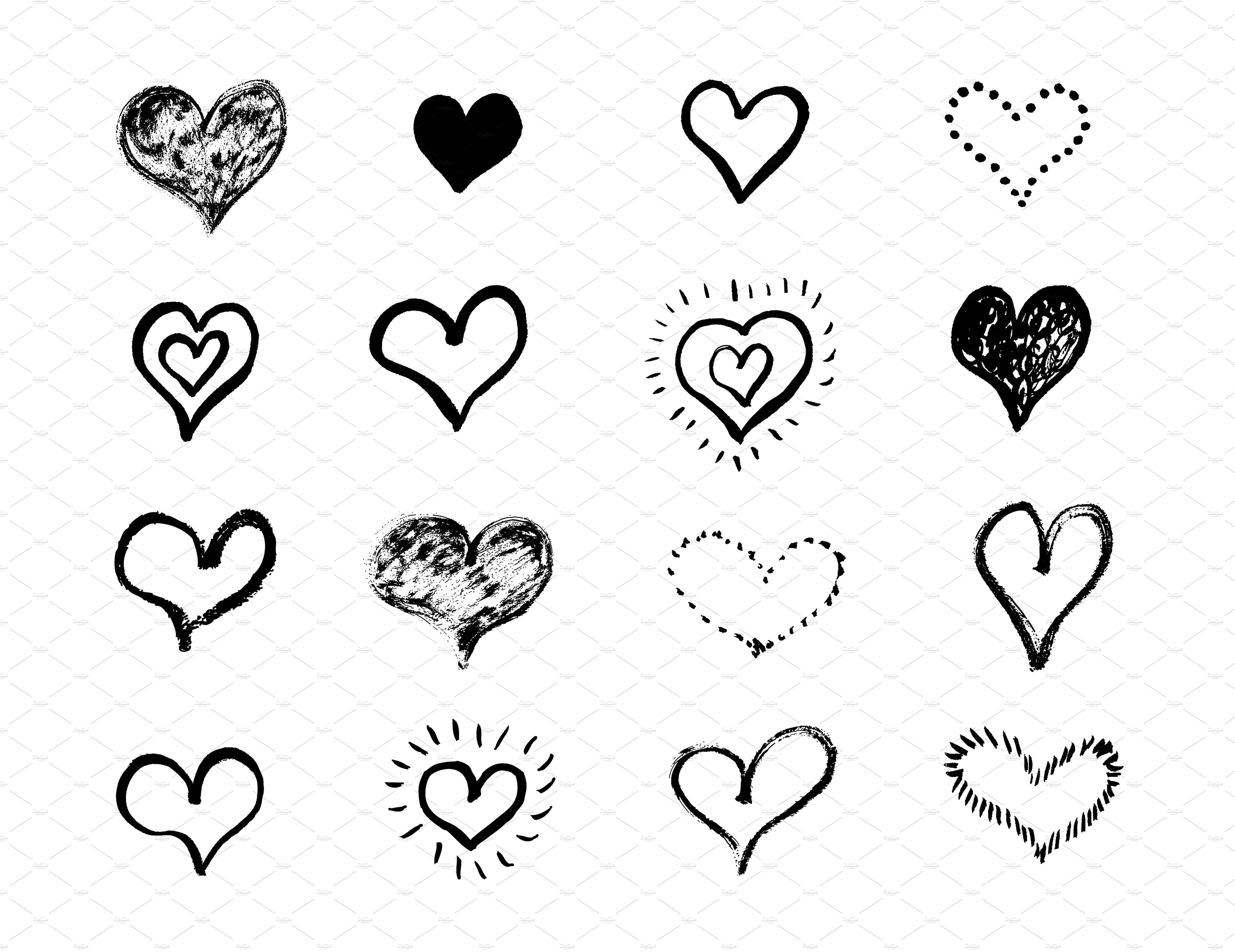 Heart Shape Set Heart Shapes Draw Shapes How To Draw Hands
