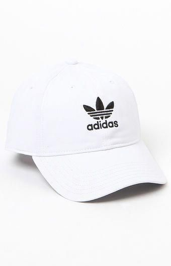 bd95c6dc78ddf Top off your look with a street-style-approved cap provided by adidas. The  Washed Strapback Dad Hat has a naturally curved bill