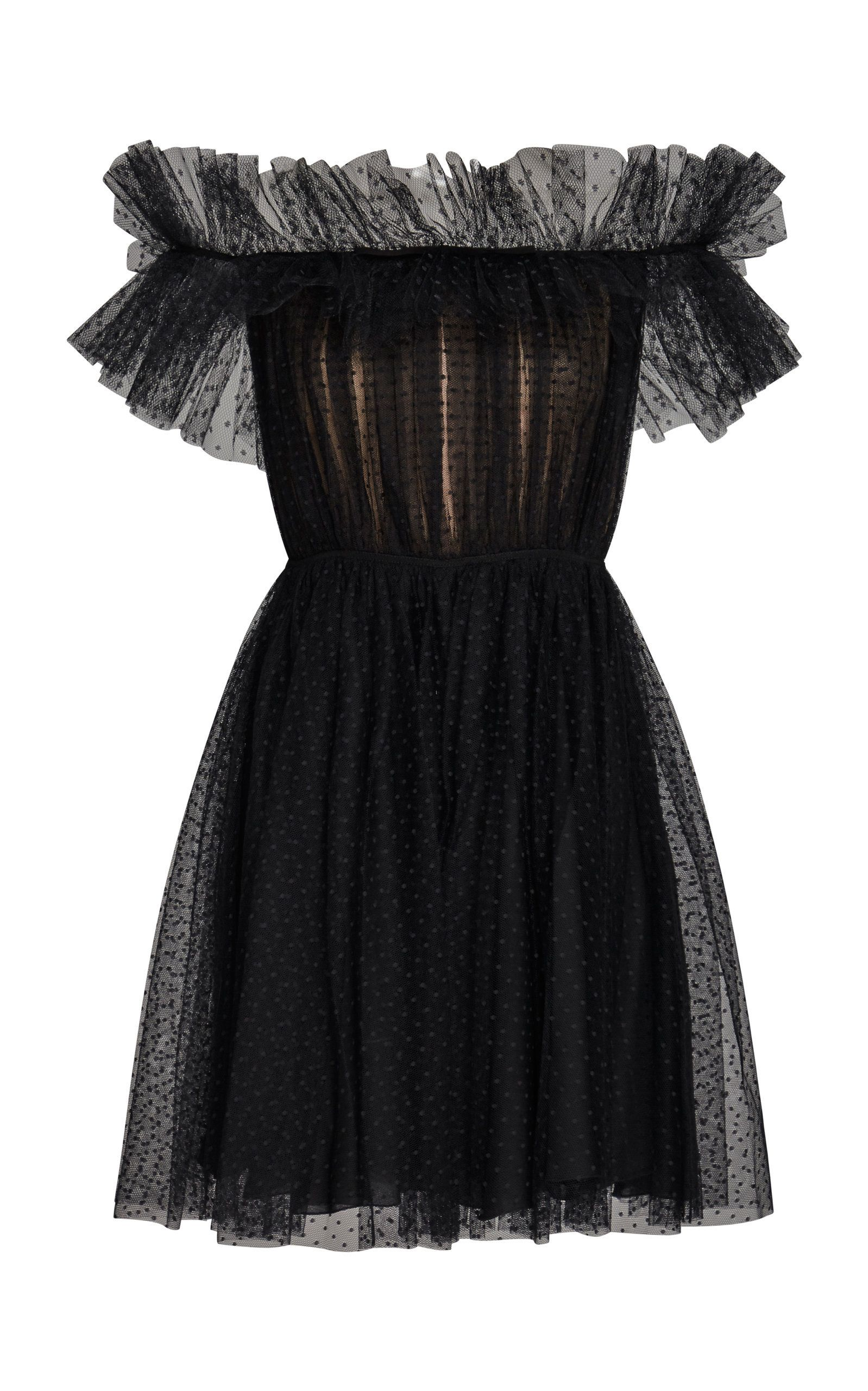 Giambattista Valli Shirred Tulle Mini Dress Fashion Fashion Outfits Fancy Dresses [ 2560 x 1598 Pixel ]