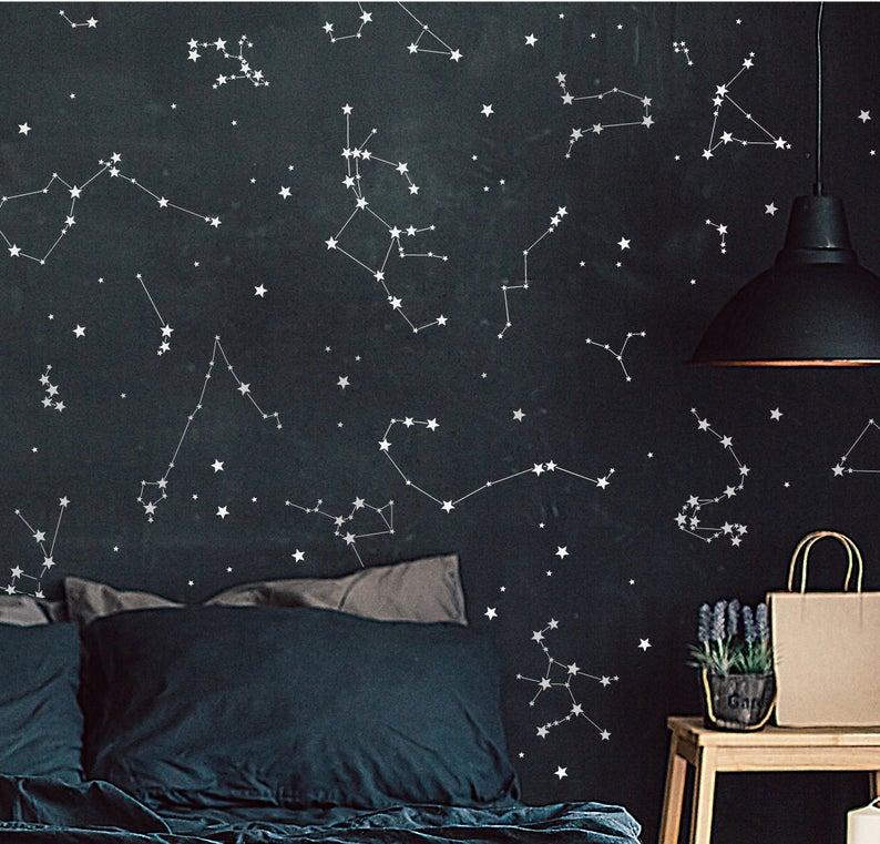 Constellation Stickers Constellation Decals Astronomy Wall Etsy In 2020 Constellation Decal Constellation Wall Decal Constellation Wall Art
