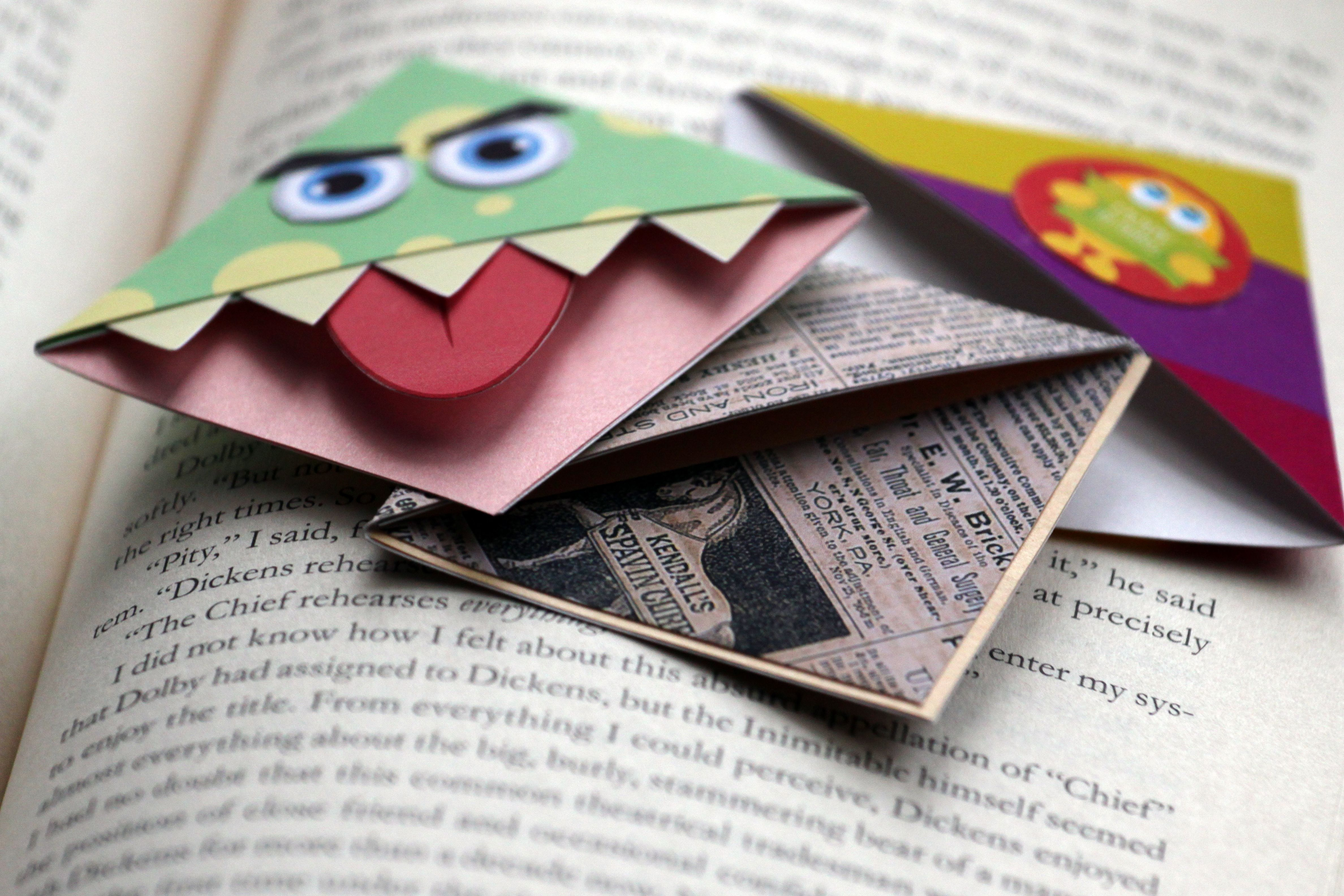make corner munch bookmarks | bookmarks and craft