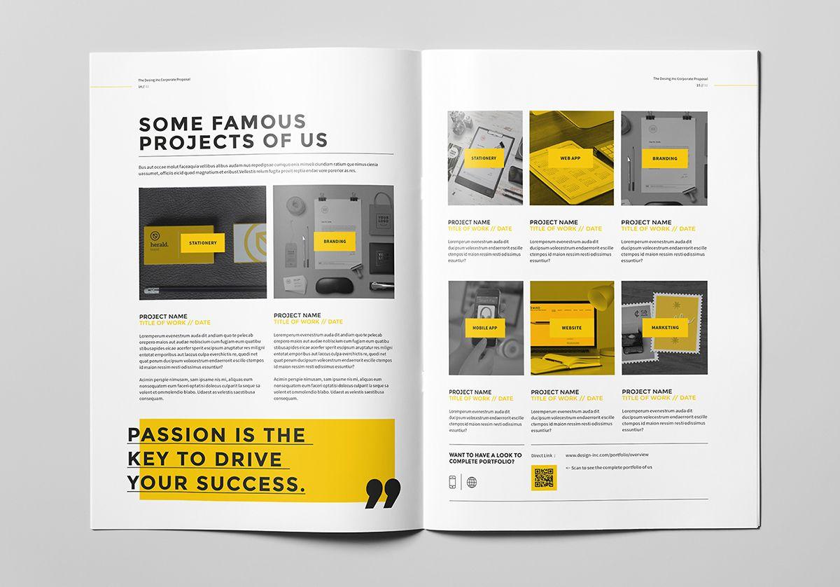 Proposal on Behance Brochure template, Portfolio
