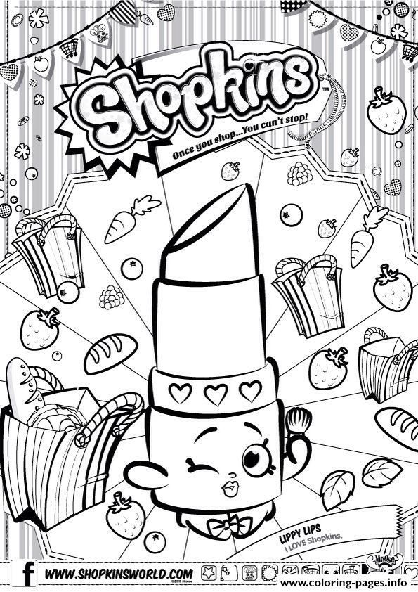 Print Shopkins Lippy Lips Coloring Pages Shopkins Colouring