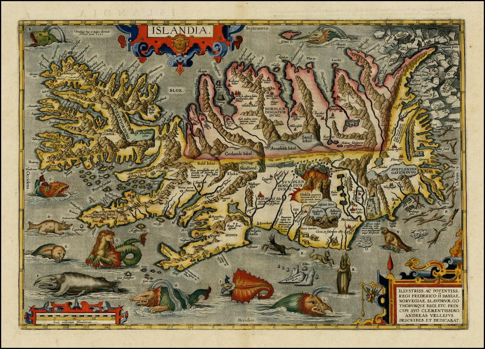 Asia Sea Map%0A Icelandic sea monsters