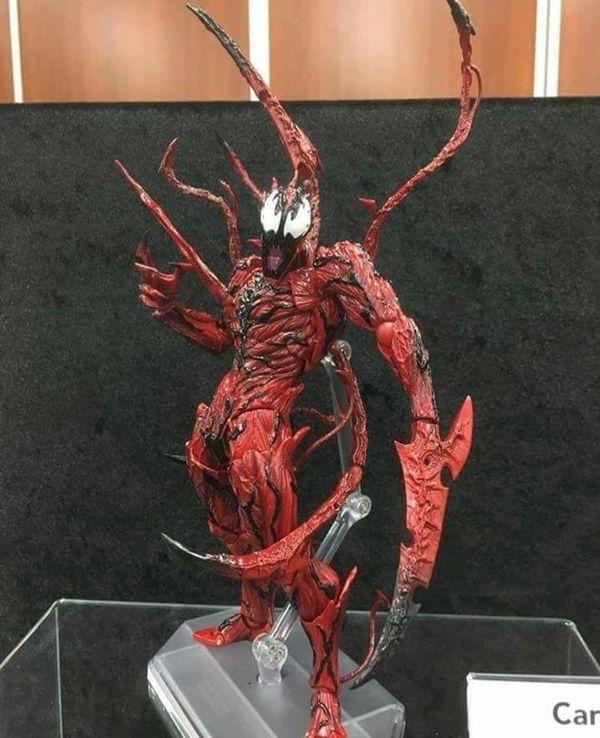 Spider-Man CARNAGE Action Figure Yamaguchi Katsuhisa Revoltech Kaiyodo New Red