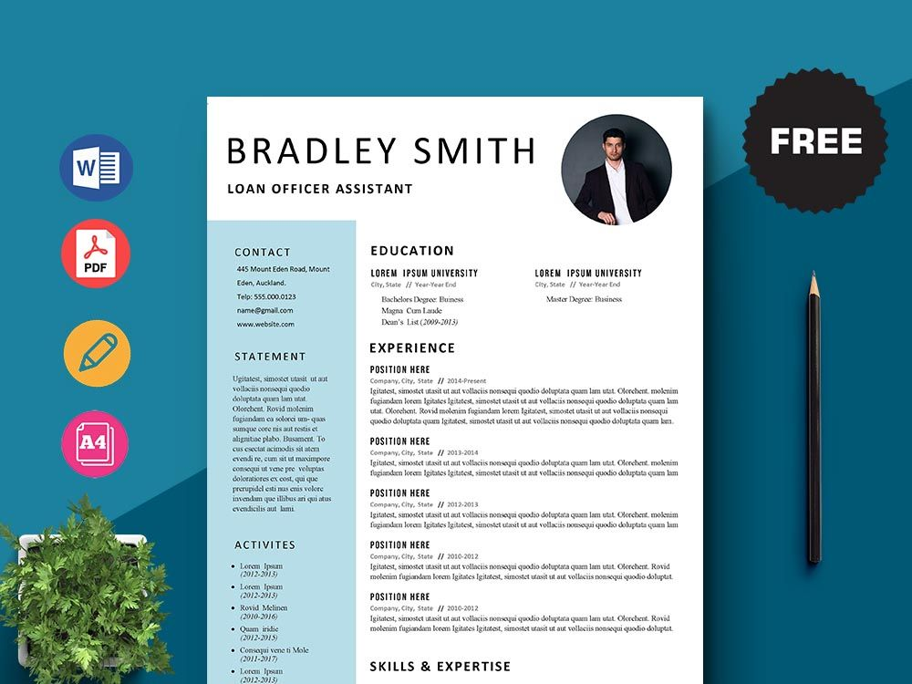 Free Loan Officer Assistant Resume Template In 2020 Loan Officer Resume Template Assistant Jobs