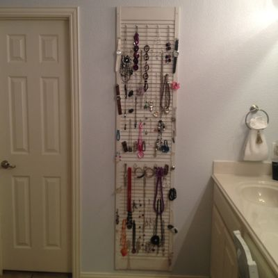 Jewelry organizer from old shutter Farmhouse Pinterest