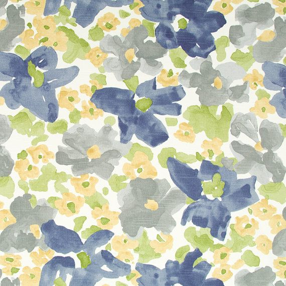 Turquoise and Navy Blue Upholstery Fabric - Contemporary Dark Blue ...