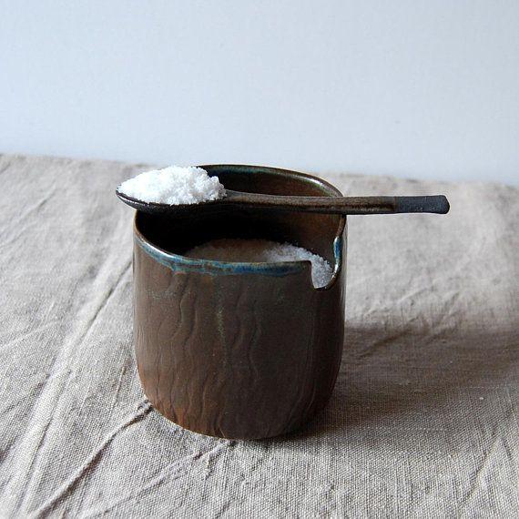 Salt pot Spice pot Serving salt Brown ceramic and pottery Salt container Ceramic cellar Pottery cellar & Salt pot Spice pot Serving salt Brown ceramic and pottery Salt ...