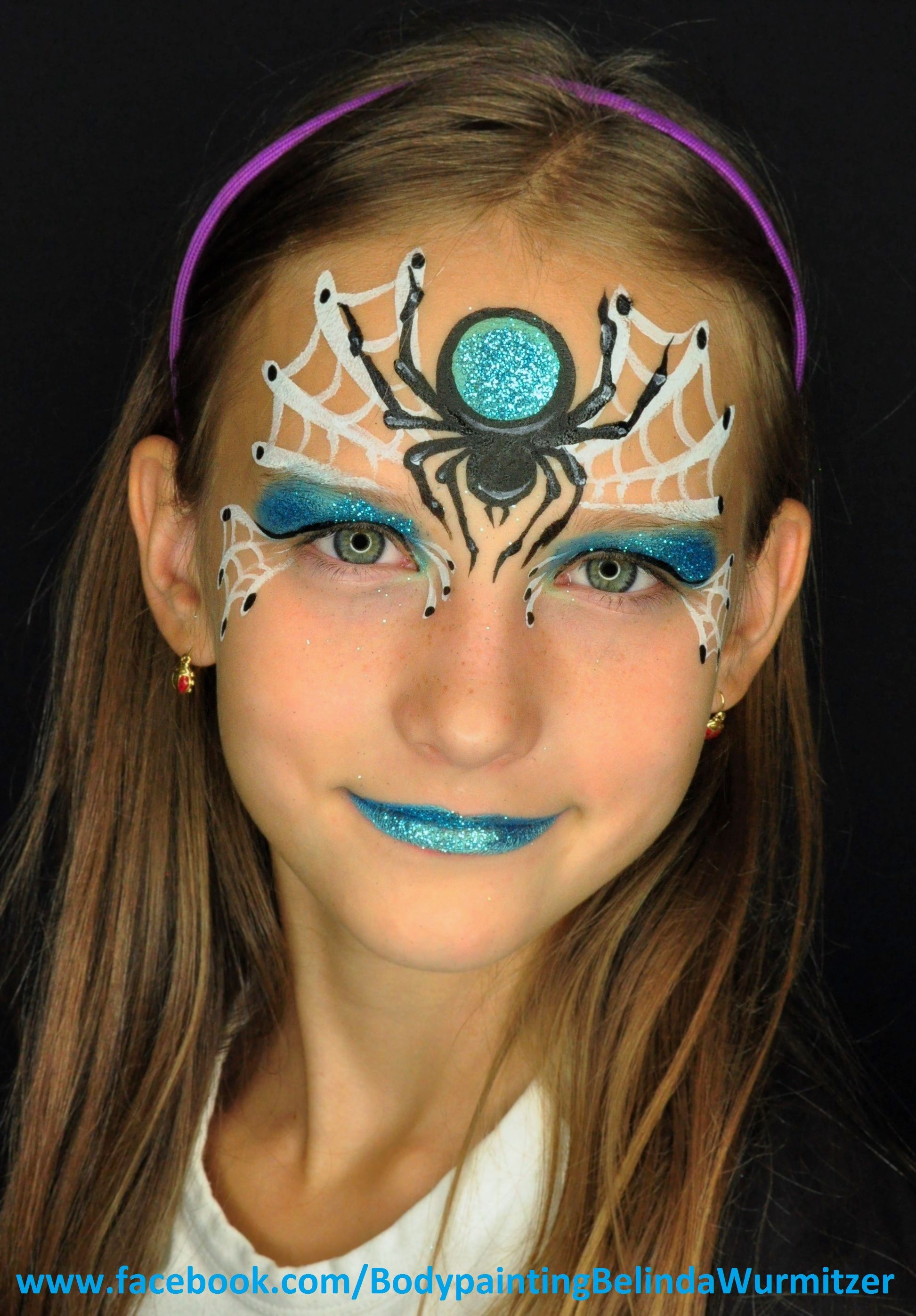 Halloween Gesichtsbemalung Hexe Spinne Spider Artist Belinda Wurmitzer Face Paintings