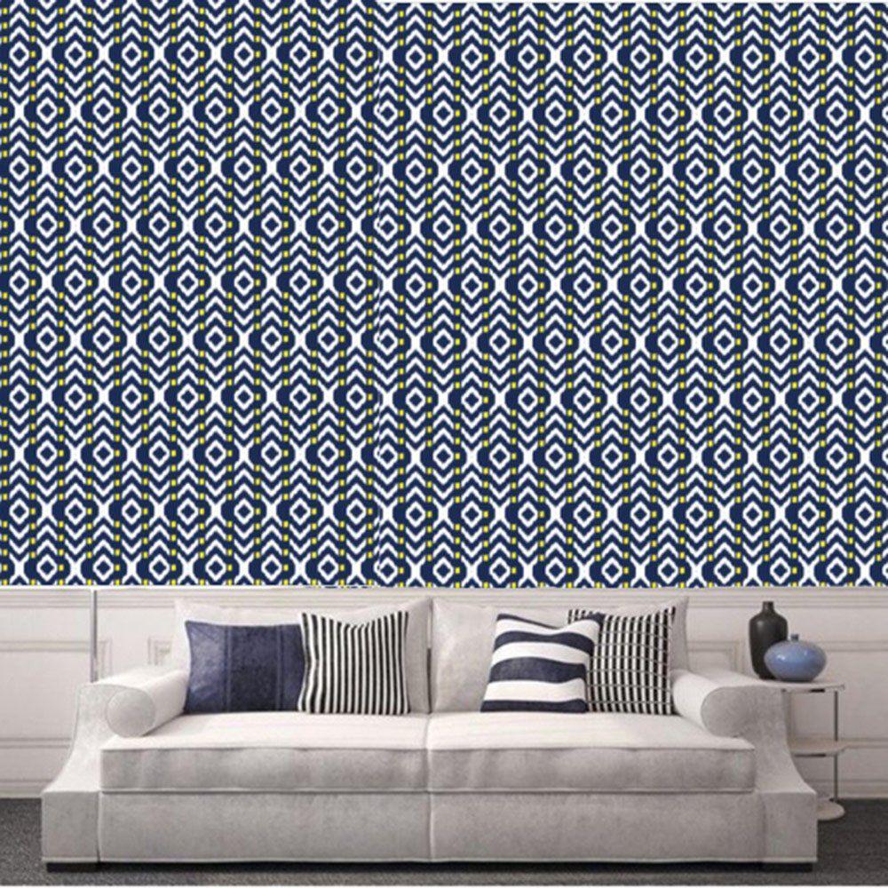 Un papier peint graphique à motifs ikat, Sandrine Alouf | Ideas for ...
