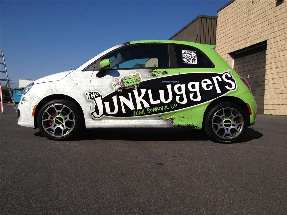 Junk removal company car wrap | Creative Car & Vehicle Wraps ...