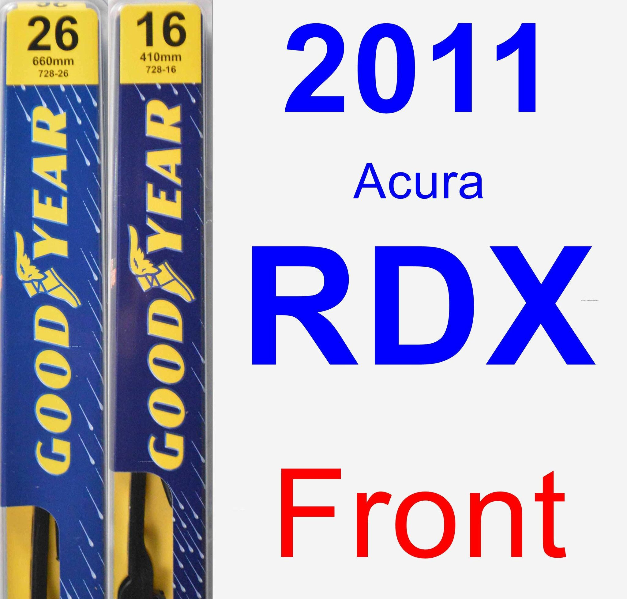 Front Wiper Blade Pack For 2011 Acura RDX