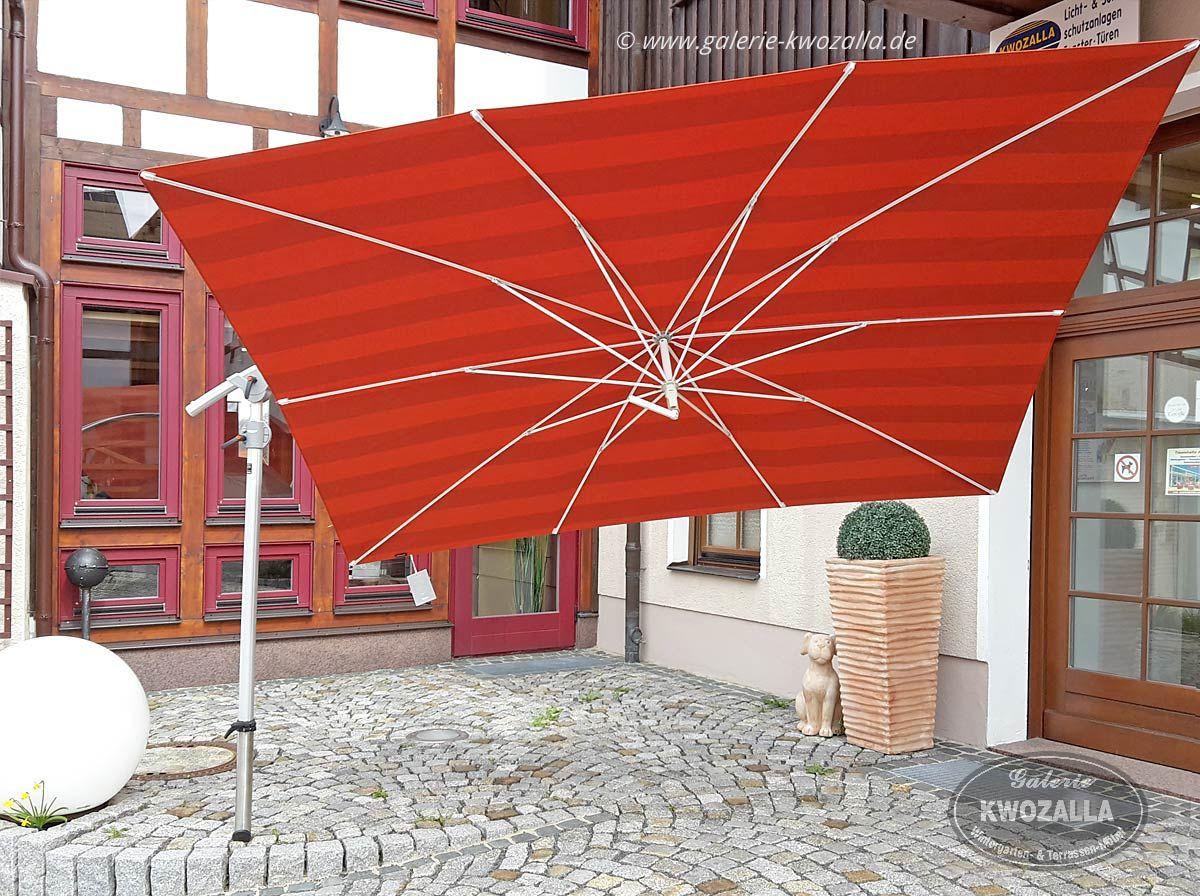 Sonnenschutz Roter Rechteckiger Sonnenschirm Ampelschirm Fur Den Garten Oder Terrasse Vielseitig Einset Sonnenschirm Gartenschirme Sonnenschirm Ampelschirm