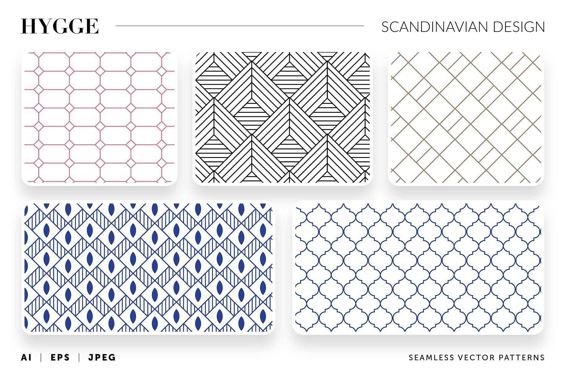 Hygge Scandinavian Vector Patters In 2020 Scandinavian Design Pattern Scandinavian Design Style Scandinavian Design