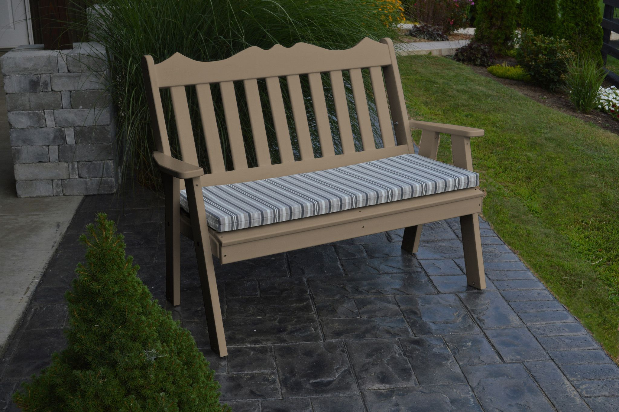 Au0026L Furniture Company Recycled Plastic 4u0027 Royal English Garden Bench