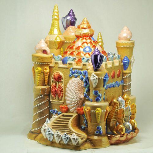 Mccoys Christmas Trees: Sand Castle 2002 Cookie Jar By Christmas Radko In 2019