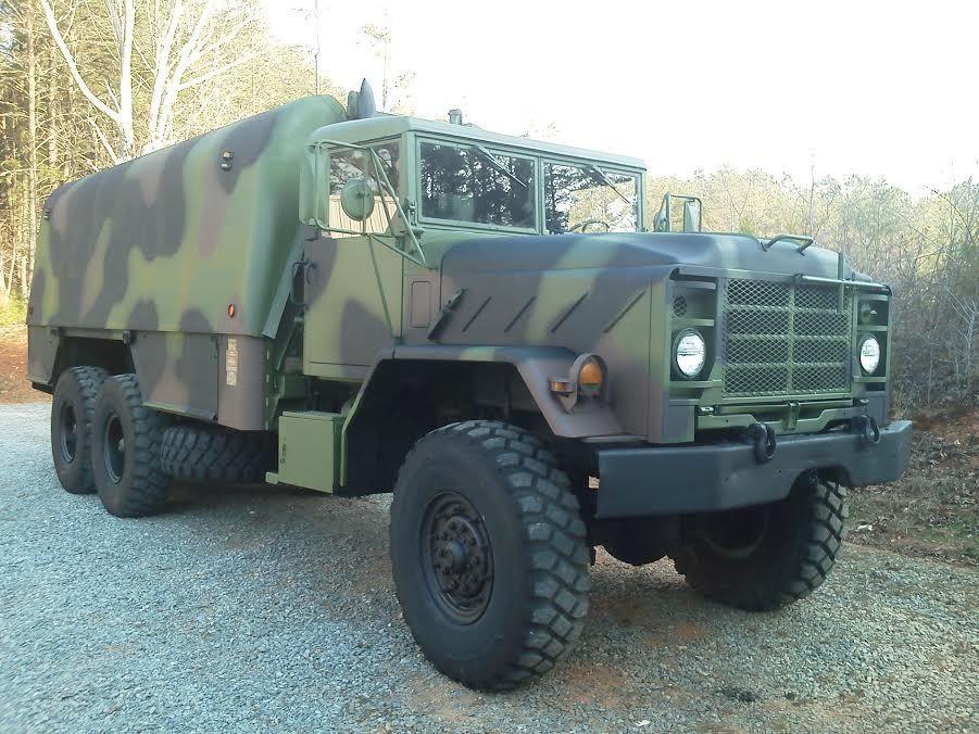 1986 military 6x6 truck machine shop bug out camper