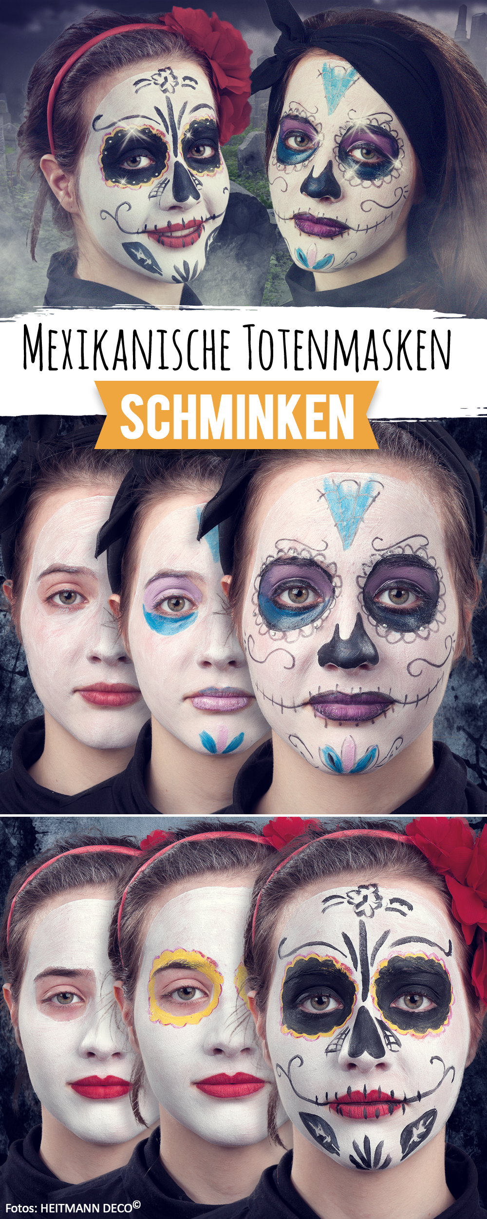 Perfekt f r halloween mexikanische totenmaske schminken costumes pinterest - Mexikanische totenmaske schminken ...