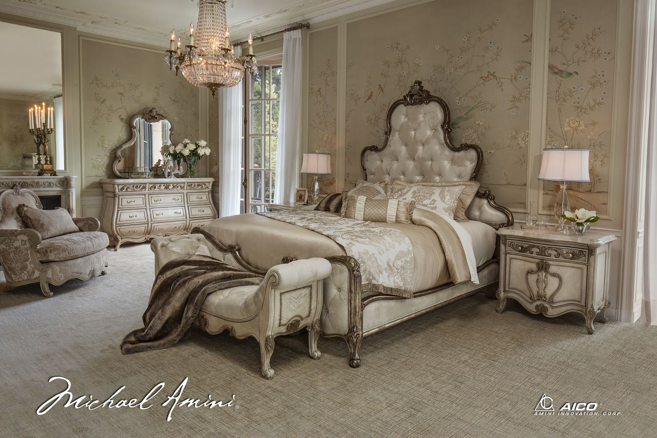 Homefurniture.nyc   Aico Platine De Royale Collection King Panel Bed ,  $3,267.00 (http