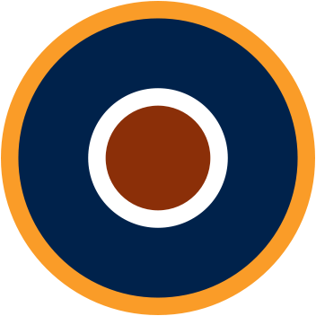 The RAF Type C1 Roundel. Used on dark surfaces except upper