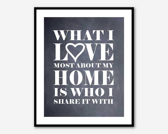 Inspirational Wall Art - What I love most about my home is who I ...