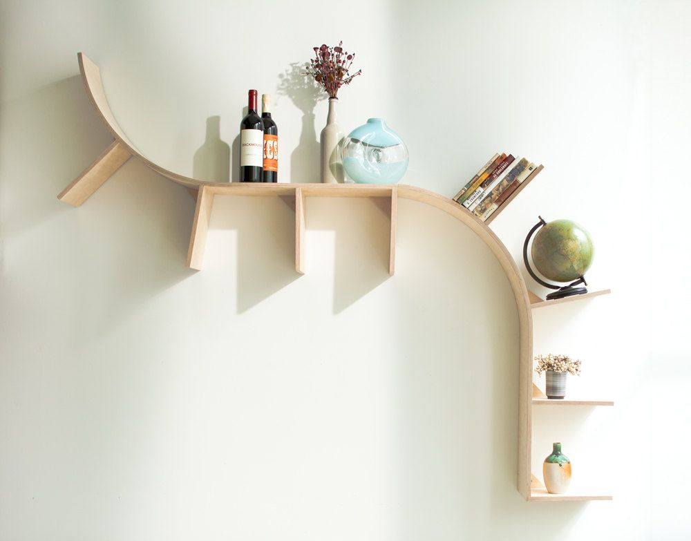 Modern arched bookshelves furniture b tor for Inneneinrichtung design studium