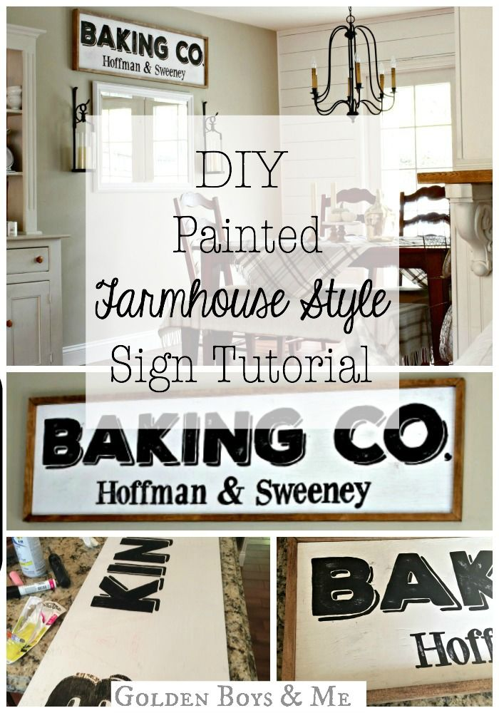DIY Painted Farmhouse Style Sign Tutorial Diy signs