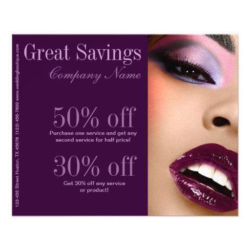 elegant purple lips Makeup Artist business Flyers | Business ...
