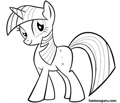 Pin By Laura Strange Filges On Coloring In Page Printable For Kids My Little Pony Coloring My Little Pony Twilight Pony Drawing