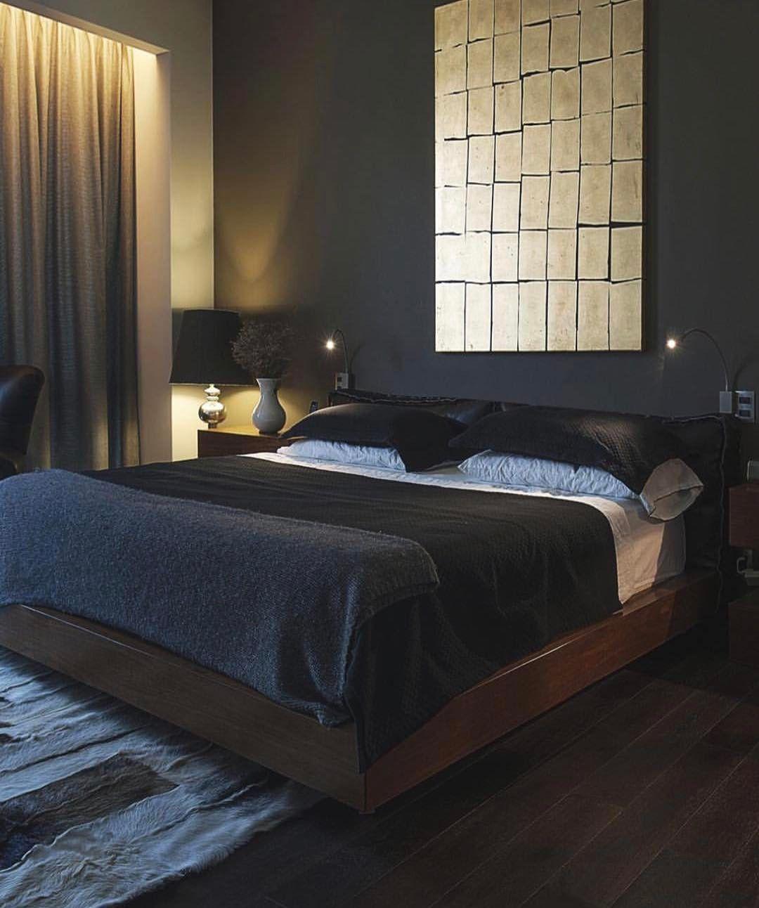 Men Bedroom Inspiration Black Bedroom With Gold Bronze Details