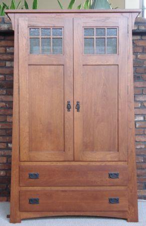 Craftsman armoire | Our Armoire - Craftsman Armoire AMISH ...