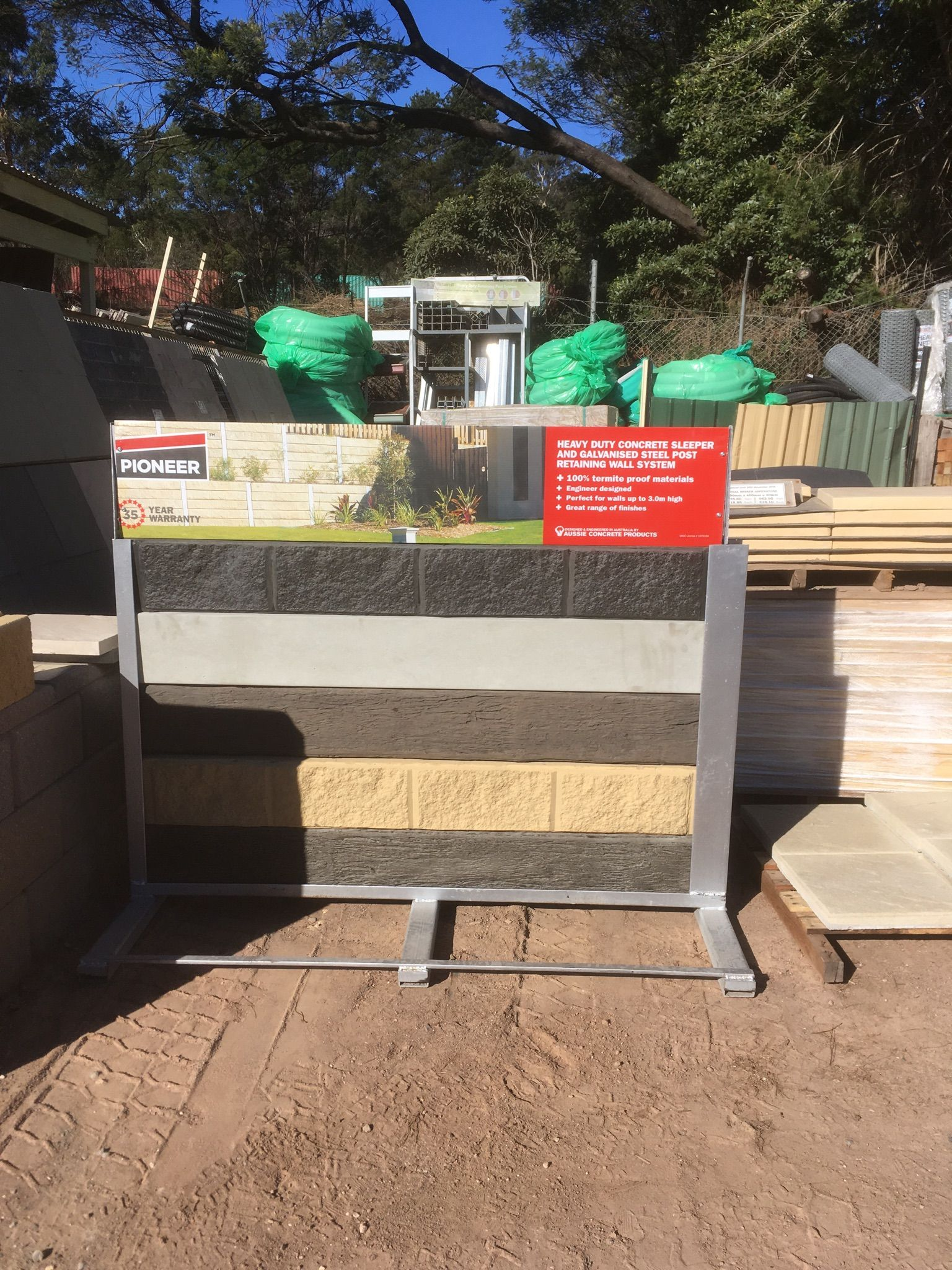 Pioneer range display set up at Hayters Mittagong in NSW ... on Front Range Outdoor Living id=28928