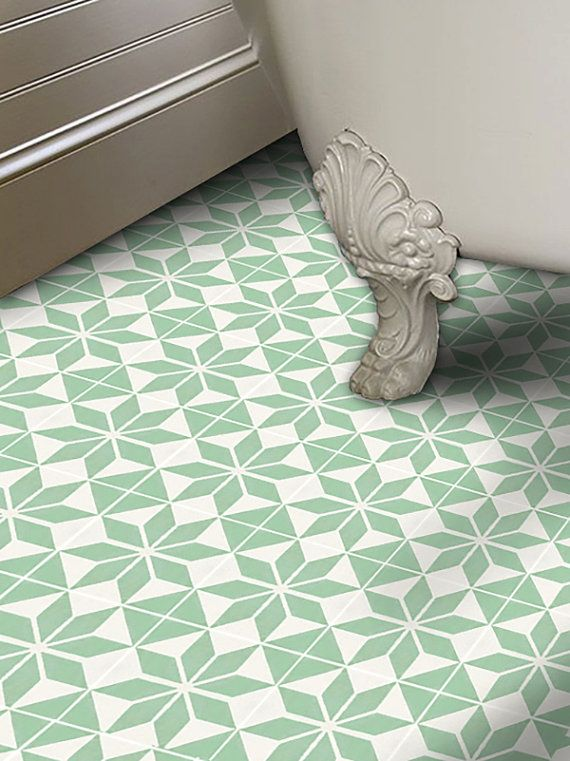 Vinyl Floor Tile Sticker - Floor decals - Carreaux Ciment Encaustic