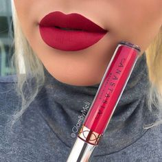 Oh hey there (Tulip) liquid lipstick @anastasiabeverlyhills new shade is so gorgeous, what do you loves think ?? : Follow my #Snapchat for meow swatches of these other shadesGlamByMeli::::::: #norvina #anastasiabeverlyhills #tulip #liquidlipstick #abhliquidlipstick #lipstick #swatch #hudabeauty #vegas_nay #lotd #igmakeup #matte #mattelipstick