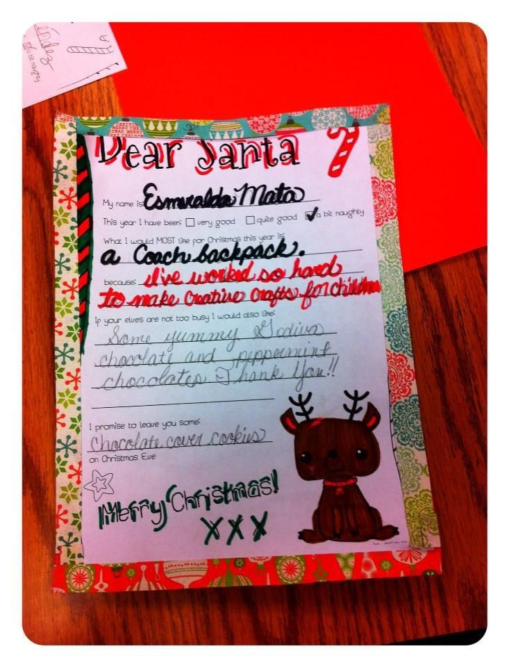 Letter To Santa Claus In Cursive  Cursive Writing